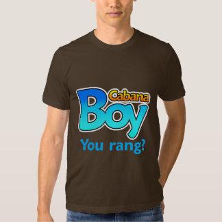 ¿Muchacho de la cabaña que usted llamó? Camisas