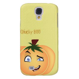 Muchacho de la calabaza del feliz Halloween Funda Para Galaxy S4