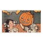 Muchacho de la calabaza (tarjeta de Halloween del  Tarjetas Personales