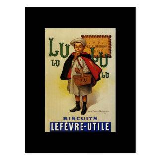 Muchacho de la galleta de Lefevre Lu Lu en cabo Postales