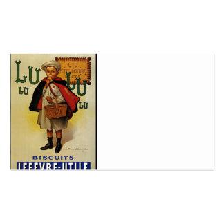 Muchacho de la galleta de Lefevre Lu Lu en cabo Tarjetas De Visita