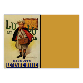 Muchacho de la galleta de Lefevre Lu Lu en cabo Tarjetas De Visita Grandes