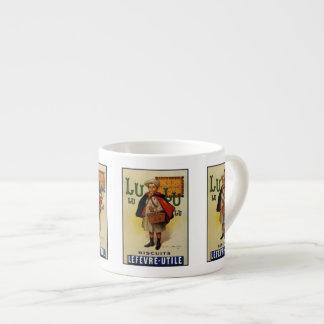 Muchacho de la galleta de Lefevre Lu Lu en cabo Taza Espresso