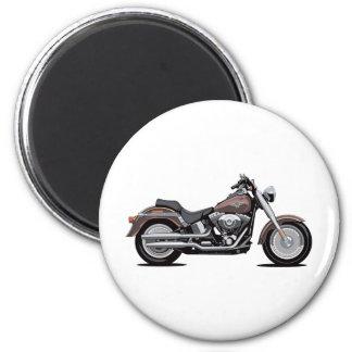 Muchacho de la grasa de Harley Davidson Imán Redondo 5 Cm