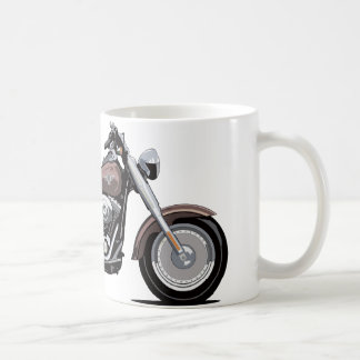 Muchacho de la grasa de Harley Davidson Taza Básica Blanca