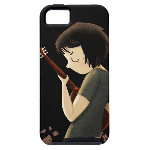 Muchacho de la guitarra iPhone 5 protectores