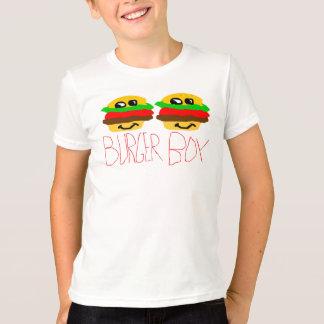 Muchacho de la hamburguesa playera