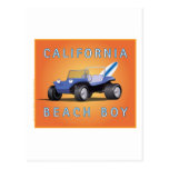 Muchacho de la Isla de Man de la playa de Californ Tarjetas Postales