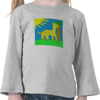 Muchacho de la jirafa de Girard de los amigos del Camisetas