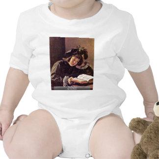 Muchacho de la lectura de Hals Francisco Trajes De Bebé