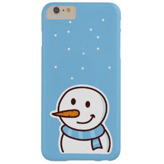 Muchacho de la nieve del invierno funda de iPhone 6 plus barely there