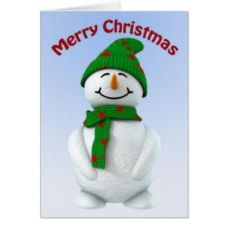 Muchacho de la nieve tarjeta de felicitación