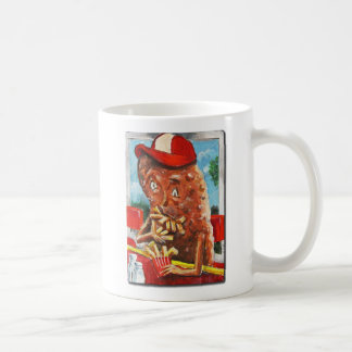 Muchacho de la patata, caníbal accidental taza de café