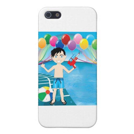 Muchacho de la piscina de Watergun iPhone 5 Cobertura