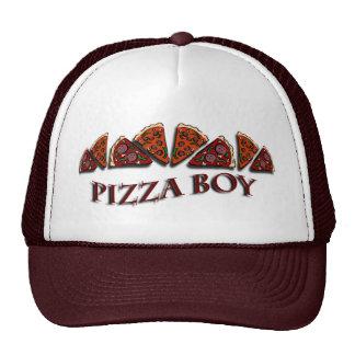 Muchacho de la pizza gorros bordados