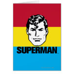 Muchacho de la raya - superhombre tarjeta de felicitación