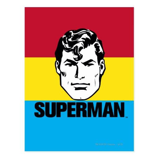 Muchacho de la raya - superhombre tarjeta postal
