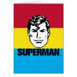 Muchacho de la raya - superhombre tarjetas