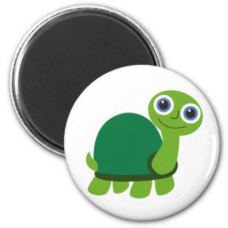 Muchacho de la tortuga imán redondo 5 cm