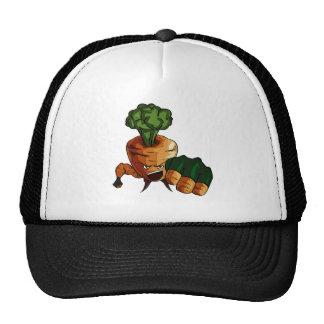 Muchacho de la zanahoria gorra
