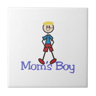 Muchacho de las mamáes azulejo cuadrado pequeño