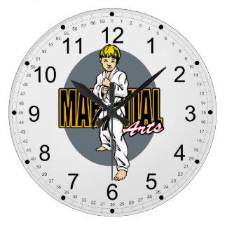 Muchacho de los artes marciales relojes de pared