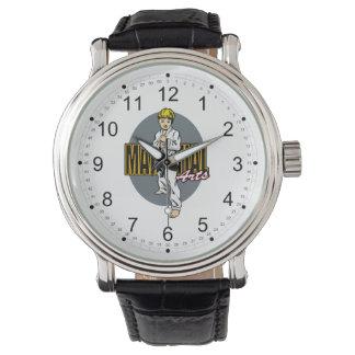 Muchacho de los artes marciales relojes de pulsera