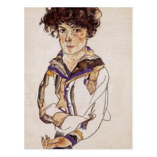 Muchacho de los jóvenes de Egon Schiele- Tarjetas Postales