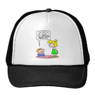 muchacho de mentira de la realidad virtual gorra