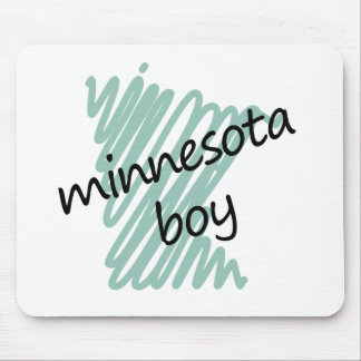 Muchacho de Minnesota en el dibujo del mapa de Min Tapetes De Ratones
