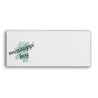 Muchacho de Mississippi en el mapa de Mississippi