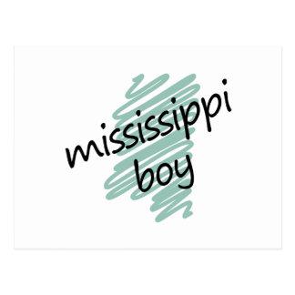 Muchacho de Mississippi en el mapa de Mississippi Postal