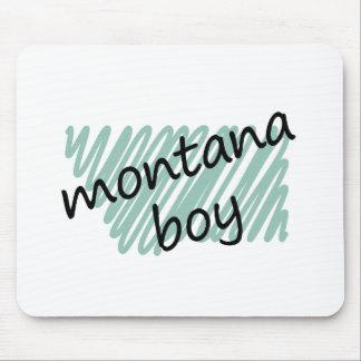 Muchacho de Montana en el dibujo del mapa de Monta Tapetes De Ratón