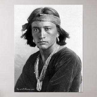 Muchacho de Navajo Póster