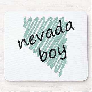 Muchacho de Nevada en el dibujo del mapa de Nevada Alfombrillas De Ratón