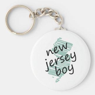Muchacho de New Jersey en el dibujo del mapa de Ne Llaveros Personalizados