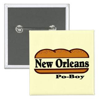 Muchacho de New Orleans Po Pin Cuadrado