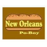 Muchacho de New Orleans Po Postal