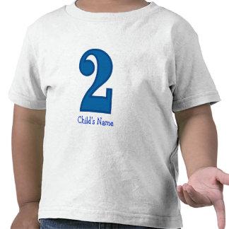 muchacho de número dos, el nombre del niño camisetas