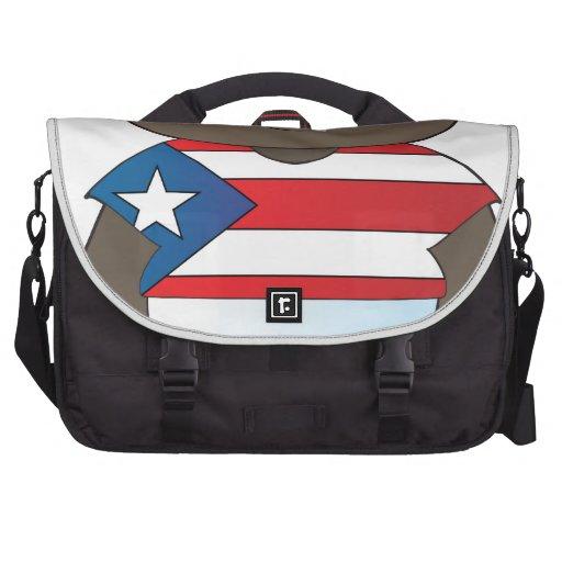 Muchacho de Puerto Rico de la amapola Bolsas De Portátil