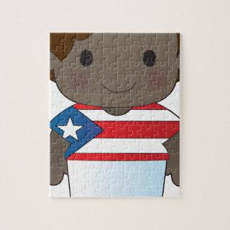 Muchacho de Puerto Rico de la amapola Rompecabezas