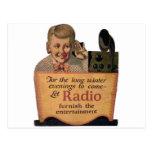 Muchacho de radio postales