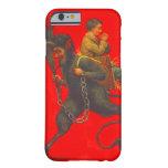 Muchacho de rogación del secuestro rojo de Krampus Funda De iPhone 6 Barely There