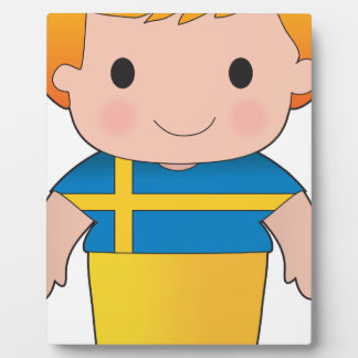 Muchacho de Suecia de la amapola Placas Con Fotos