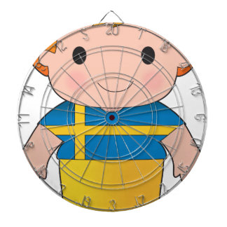 Muchacho de Suecia de la amapola Tablero De Dardos