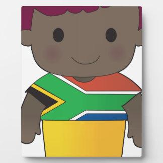 Muchacho de Suráfrica de la amapola Placas De Plastico