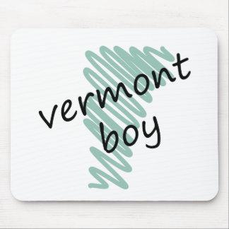 Muchacho de Vermont en el dibujo del mapa de Vermo Tapetes De Ratones