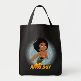Muchacho del Afro Bolsa Tela Para La Compra