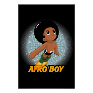 Muchacho del Afro Poster