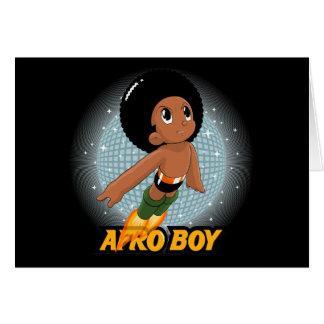 Muchacho del Afro Tarjeton